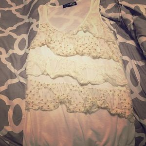 White Tank with Ruffles